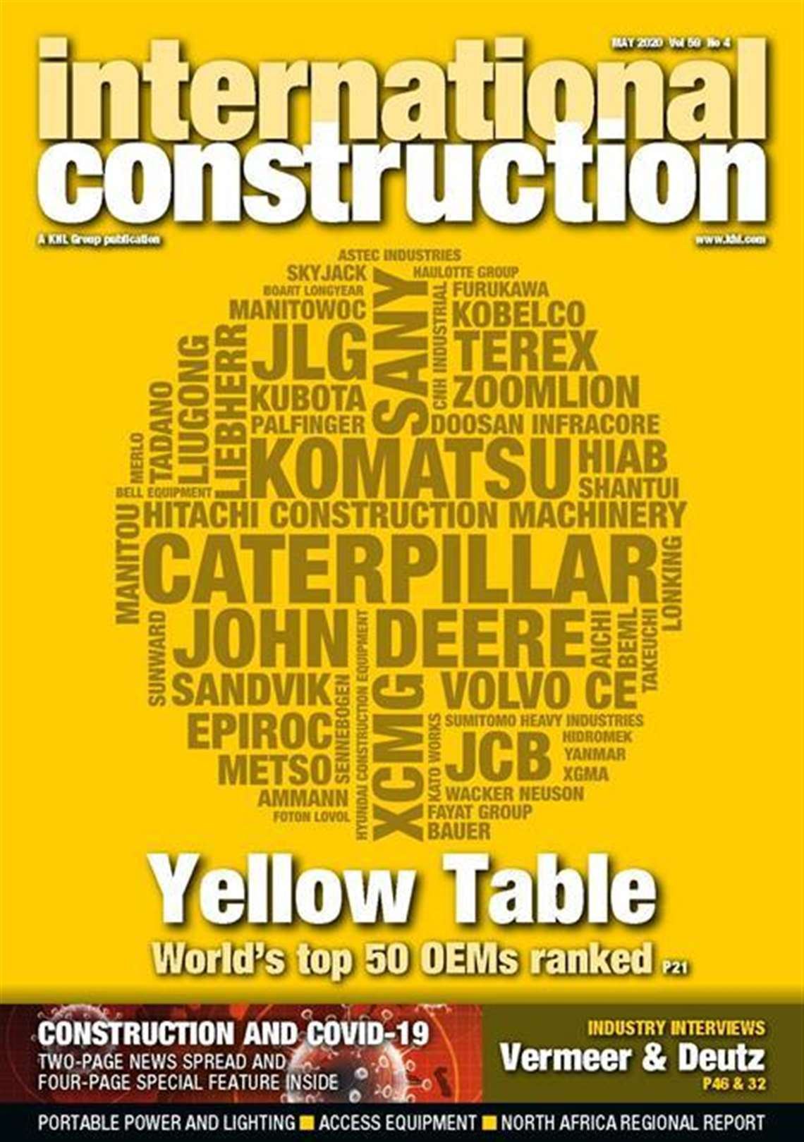 International Coonstruction Yellow Table