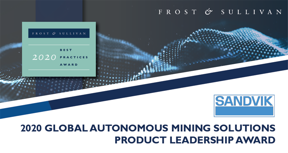 Frost & Sullivan 2020 Global Product Leadership Award