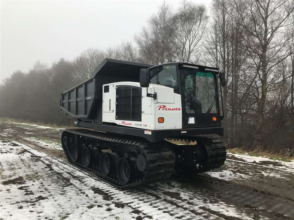 Prinoth's Panther T14R tracked dumper